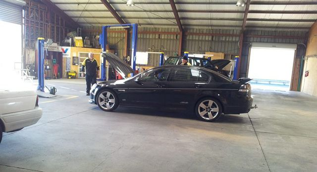 Car receiving our car inspection service in Taupo