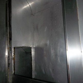 cappa in alluminio dopo la pulizia