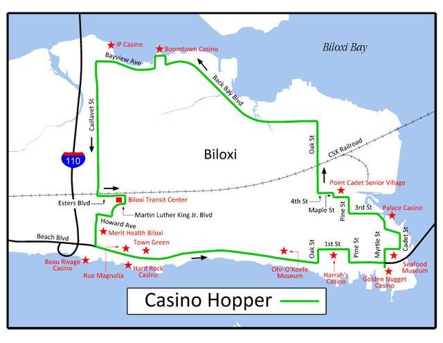 Florida Casinos Map.Biloxi Casino Hopper Best Bets Biloxi