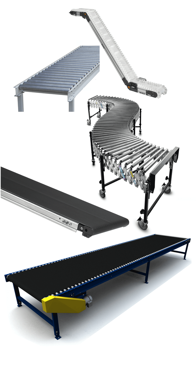 Flexible Conveyors, PVC, Steel, and Aluminum Conveyor Rollers