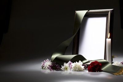 porta foto con candela