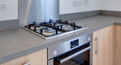 Cooking gas stove installation