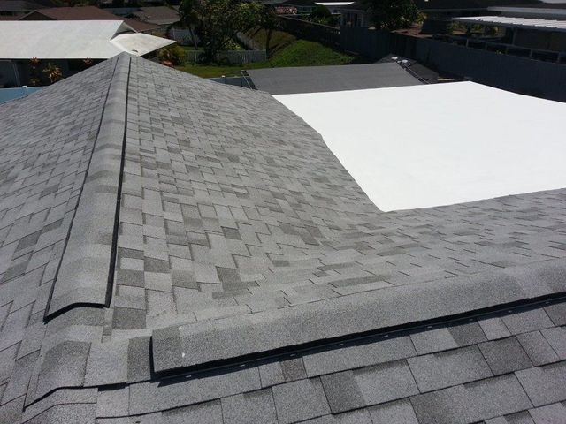 Malarkey Ecoasis 50 Year Solar Reflective Shingles   Agave   With Ridgevent  And HydroStop 15 Year Cool Roof Coating System