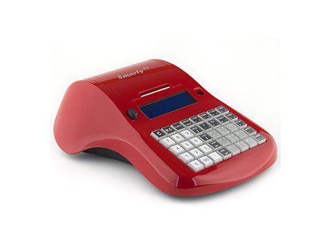 Registratore di cassa portatile rosso