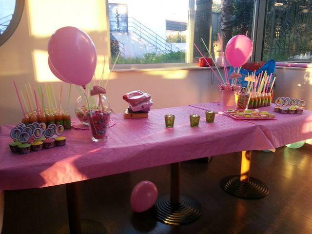 Un tavolo preparato per festeggiare un compleanno