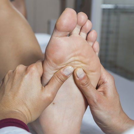 podiatrist treating