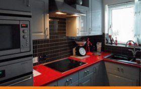 kitchen cabinet spray painting