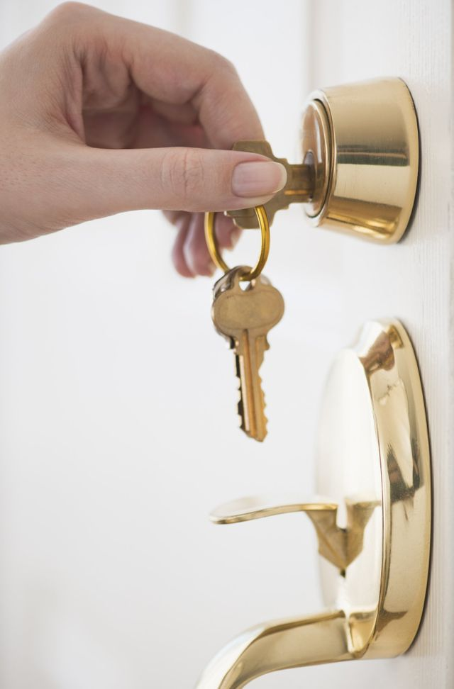 golden coloured lock