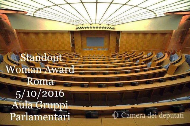 standout woman award roma 5/10/2016