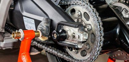 motorcycle chain drive assembly