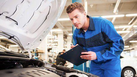 mechanic inspecting
