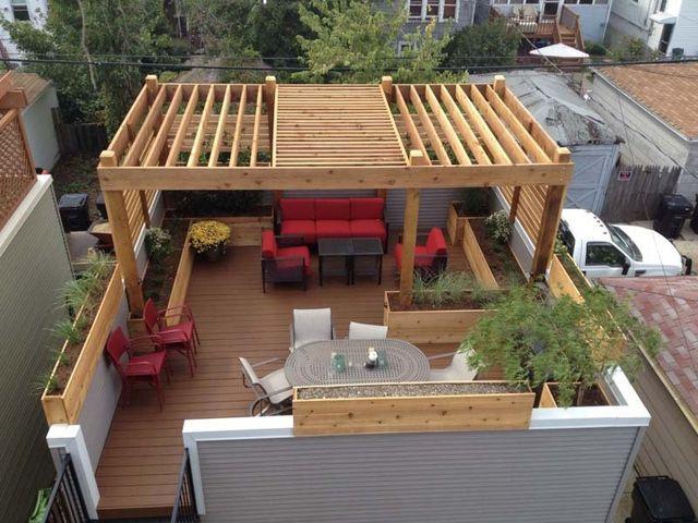 view all - Cityscape Landscape - Chicago, IL - Pergola & Deck Designs