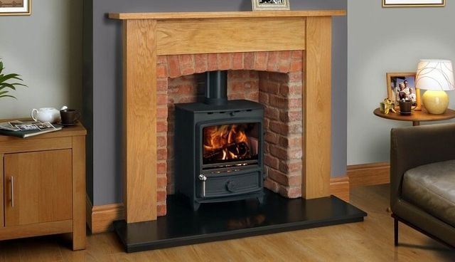 small fire place