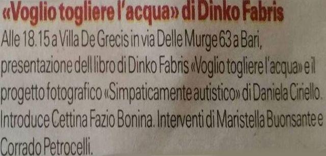 articolo di Dinko Fabris