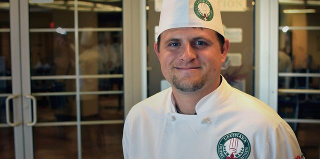 Chef Colt Patin Chef instructor at Louisiana Culinary Institute