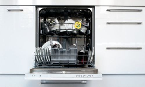 Dishwasher installed by the experts in the kitchen