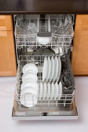 Dishes in the dishwasher