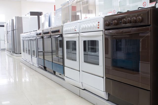 Numerous dishwasher in the showroom