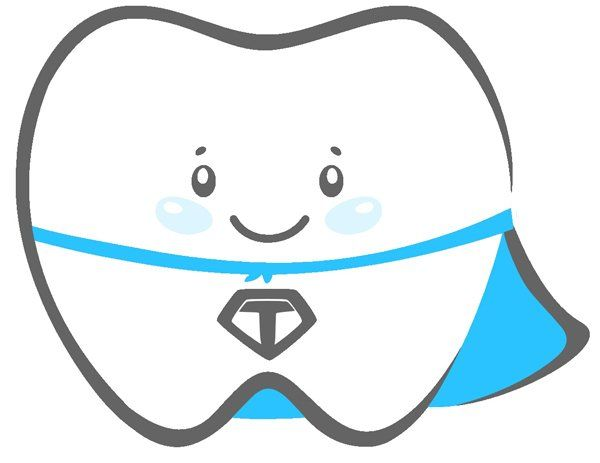 tooth icon wearing cape