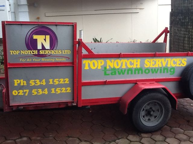 A lawn cutting truck in Auckland