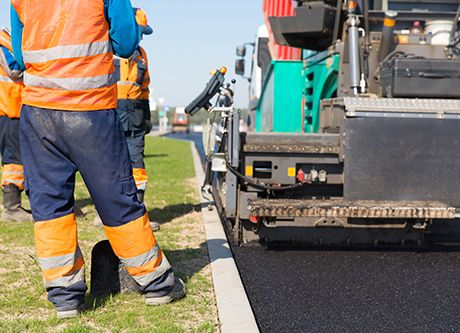 Asphalt paver team repairing pothole repairs at an affordable price in Christchurch, NZ