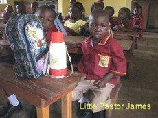 Little Pastor James 1st day of school