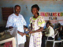 Mariatu Receiving Bible