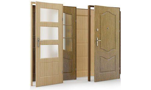porte in legno chiaro