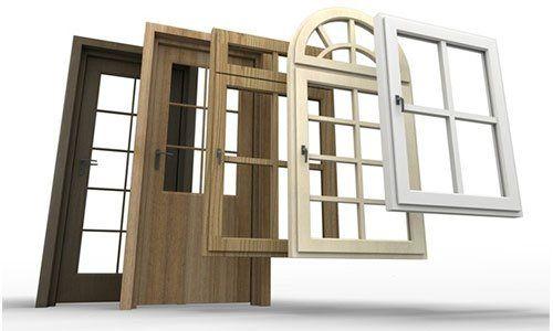 disegno 3D di porte in legno