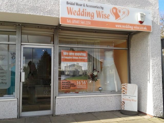 Wedding Wide first boutique shop front in Paisley Road
