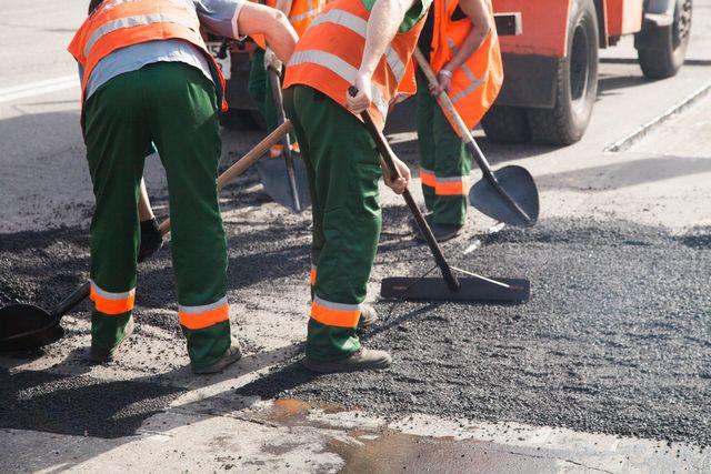 Costruzione di asfalto