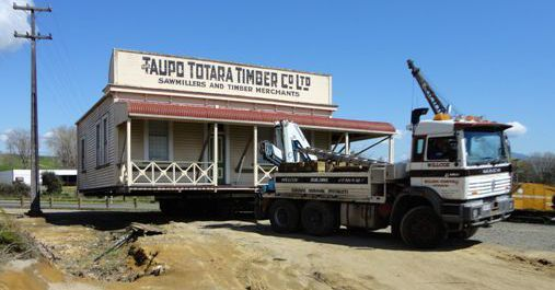 Truck used for house removal in Putaruru