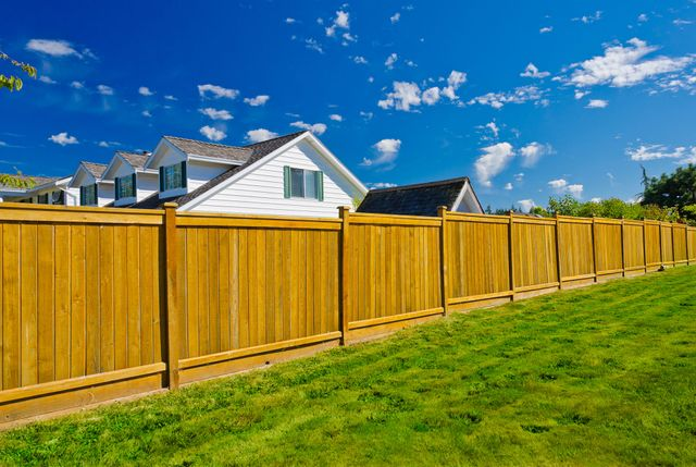 A house where we delivered fencing services in Trussville