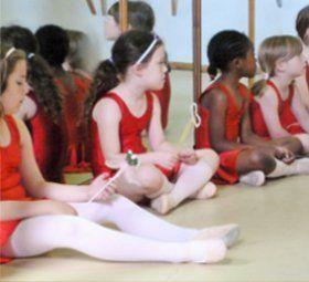 kids at the dance class