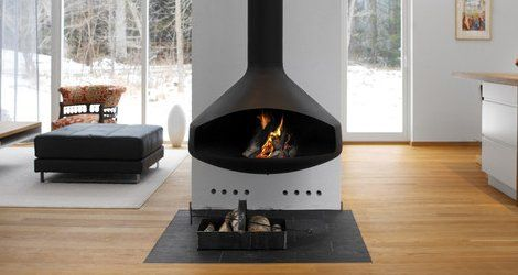 fireplace with coal
