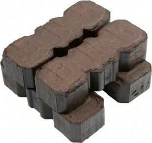 Irish peat briquettes