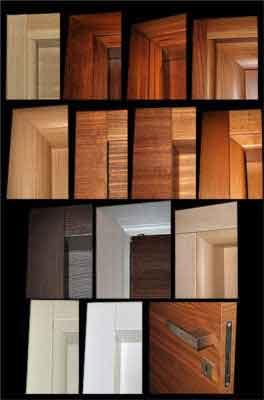 esempi di stipiti e porte in legno