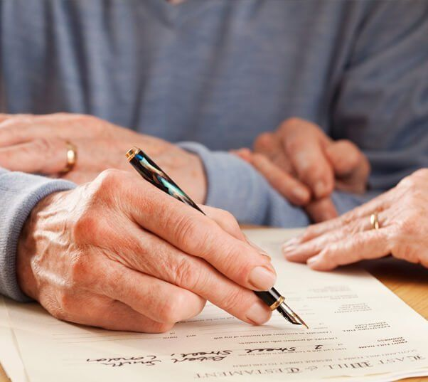signing a last will and testament prior to storing it