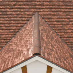 Hip to gable tiled roof