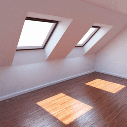 Skylights inside loft conversion