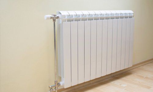 white radiators