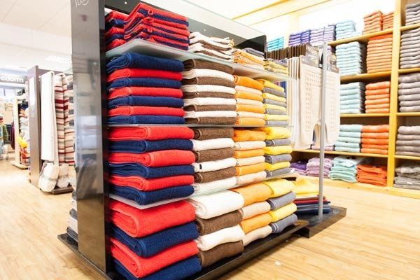 An assortment of linens at our store in spalding