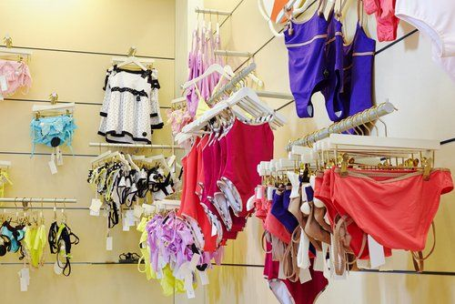 Assorted ladies swimwear at our department store in Spalding