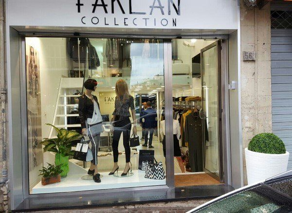 Esterno del negozio Faklan Collection a Napoli