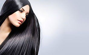 A lady with long black hair