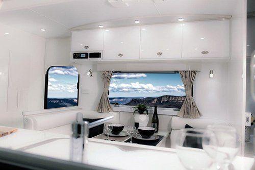 Inside caravan