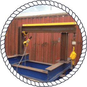 yellow lifting equipment