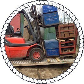 goods on lifting equipment