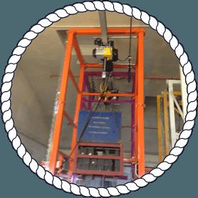 orange lifting equipment
