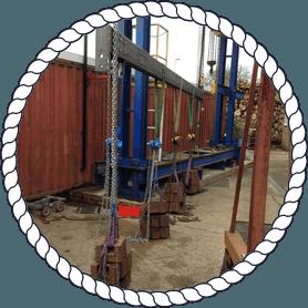 slings on lifting equipment
